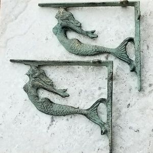 Other - Brand New! Pair (2) Mermaid Shelf Brackets